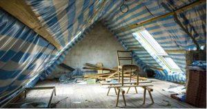 Isolation du toit par l'intérieur avec pose d'un pare vapeur